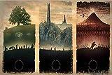Puzzle de 1000 piezas de rompecabezas de madera Rompecabezas trilogía de El Señor de los Anillos regalo de rompecabezas pieza de rompecabezas de madera para adultos juguete para niños edad niños jue