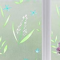 ウィンドウフィルム 浴室窓自己粘着ステッカー印刷ガラスフィルム紙ステッカーフィルムリビングルームの装飾 (Color : B1, Size : 23.6x78.7in)