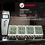 Thermopro tp63b waterproof indoor outdoor thermometer digital wireless hygrometer humidity gauge temperature monitor… 16 accurate reading: wireless temperature and humidity monitor provides accurate humidity and temperature readings for both inside and outside simultaneously, accuracy within ±2 fahrenheit and ±2~3%rh; fahrenheit or celsius selector cold-resistant & waterproof: weather thermometer hygrometer with completely sealed remote sensor contains rechargeable lithium battery technology to monitor humidity and temperature as low as -31 fahrenheit/-35 celsius, assuring transmission in rain or snow 500feet remote range: indoor/outdoor thermometer wireless measures indoor outdoor temperature and humidity percentages from 500feet/150meter away; synchronize up to 3 outdoor remote sensors, track environmental conditions in up to 4 locations with additional remote sensors; search b08m8ylnns to purchase additional sensors