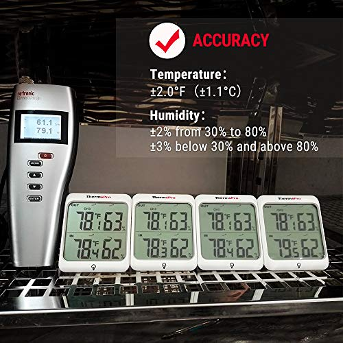 Product Image 7: ThermoPro TP63A Waterproof Indoor Outdoor Thermometer Digital Wireless Hygrometer Humidity Gauge Temperature Monitor with Cold-Resistant Outdoor Temperature Thermometer, 200ft/60m Range