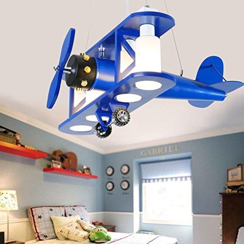 Deckenleuchten Kreativ Kinder Zimmer Deckenlampe Junge Mädchen Schlafzimmer Cartoon Licht Kindergarten Kinderzimmer Flugzeug Deckenleuchte (Farbe : Blau)