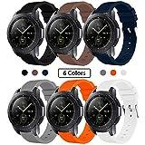 SUNDAREE Compatible con Correa Galaxy Watch 42MM/Galaxy Watch Active2,6 Colores Silicona Reemplazo Correa 20MM Banda Pulsera de...