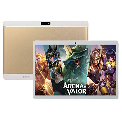JBTM Tablet 10 inch Android 8.1 6GB RAM, 128 4GB ROM, 2560 * 1600 IPS Full HD Display, Bluetooth 4.1, 4G Wi-Fi, GPS, Doule SIM for portable entertainment,Gold