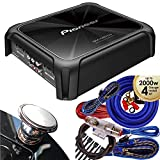 Pioneer GM-D8704 1200 Watts Class FD 4-Channel Bridgeable Amplifier with Wired Bass Boost Remote + Wire Kit