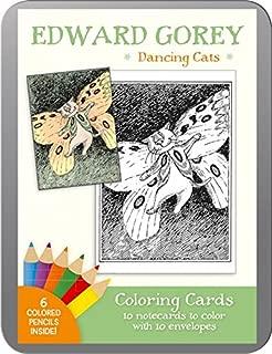 Edward Gorey: Dancing Cats Coloring Cards