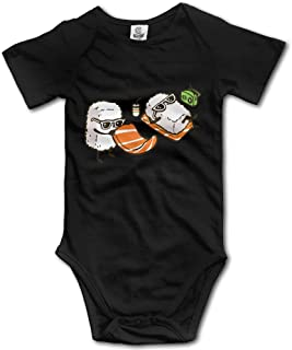 Cool Sushi Romper Baby Boys Girls Short Sleeve Bodysuit Jumpsuit