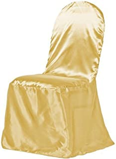 LinenTablecloth Satin Banquet Chair Cover Gold