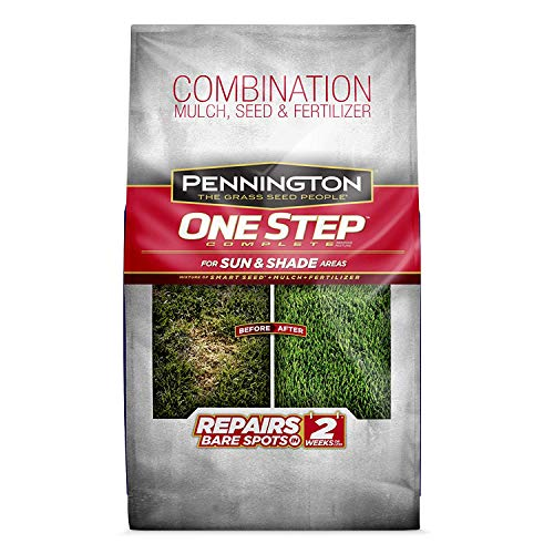 Pennington One Step Complete Sun & Shade Bare Spot Grass Seed, 10 Pounds, White