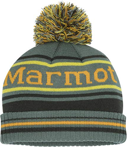 Marmot Jungen Boy's Retro Pom Hat Mütze, Crocodile/Rosin Green, ONE