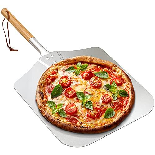 Onlyfire Pala para Pizza, Palas para Pizzas Profesional -Mango Largo de Madera 71cm para Pizza Desmontable, Utilizado en el Horno, Pizza Horneada a Mano y Tostadas