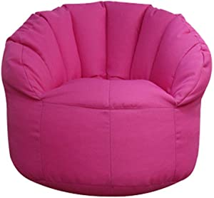 sofa Childrens Kids Toddler Gaming Bean Bag  Filled Personalised Indoor Outdoor Bean Bag Chair Seat Living Room Shell-shaped armchair Pink