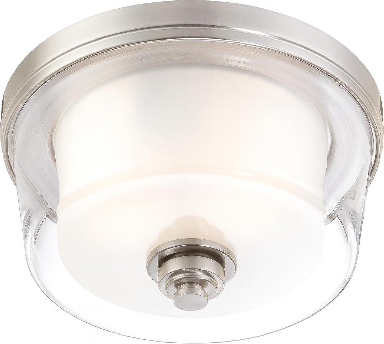 Nuvo Lighting 60 4651 Two Light Flush Mount, Pwt, Nckl, B S, Slvr.