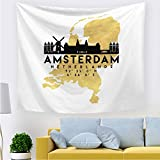 nobranded Monde célèbre Ville Paysage Tapisserie tenture Murale Mode Maison Carte décoration Tapisserie décorations pour la Maison pour Le Salon