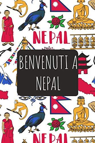 Benvenuti a Nepal: 6x9 Diario di viaggio I Taccuino con liste di controllo da compilare I Un regalo perfetto per il tuo viaggio in Nepal e per ogni viaggiatore