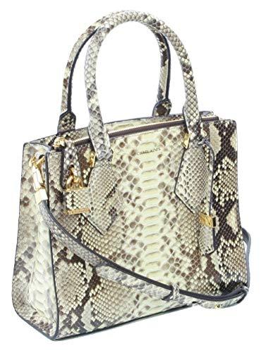 Michael Kors Collection Casey Hemp Satchel Bag Snakeskin Medium Handbag
