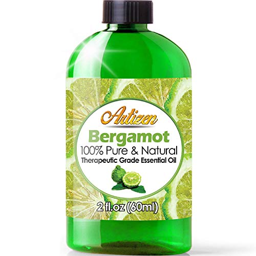 2oz - Artizen Bergamot Essential Oil (100% Pure & Natural - UNDILUTED) Therapeutic Grade - Huge 2 Ounce Bottle - Perfect for Aromatherapy