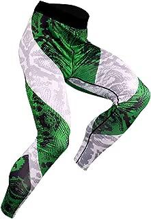 Yunisu Men's All Season Casual Sports Leggings Fitness Print Bodybuilding Flexible Tight-Drying Long Pants Trousers