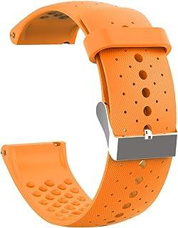 Guangcailun Sporthorloge Spare Band Verstelbare siliconen band horlogeband Vervanging voor Polar Vantage M