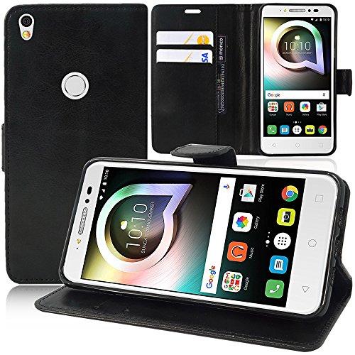HCN PHONE Alcatel One Touch Shine Lite 5.0' Custodia Custodia Portafoglio Custodia Valvola Folio A Libro Falda Supporto Integrato per Alcatel One Touch Shine Lite 5.0' - Nero