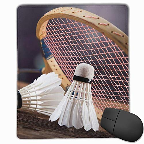 Smooth Mouse Pad, Badminton und Bat Mobile Gaming Mousepad Arbeitsmaus Pad Office Pad