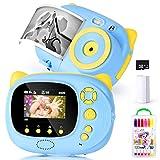 Cámara para niños Cámara de Fotos Digital 15MP Cámara Digital 1080P HD Video cámaras para Niños Niñas con LCD de 2,4 Pulgadas, Tarjeta de Memoria 8G Cámara Digital Camara de Fotos Instantaneas