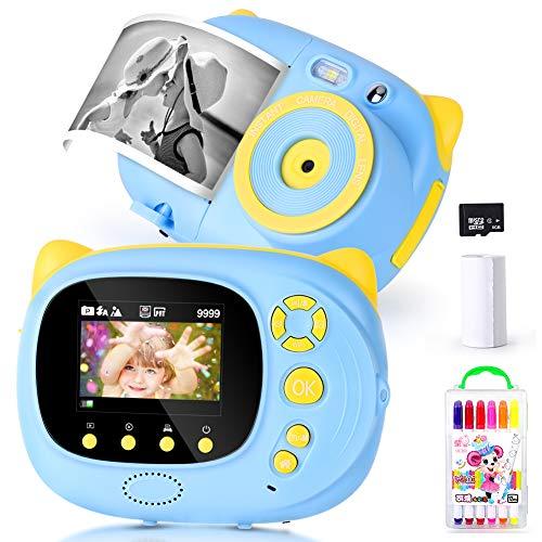 "eecoo Kinderkamera Digitalkamera für Kinder, WiFi Kamera Kinderkamera Kit mit 15MP HD Fotoauflösung, 2.0\"" LCD, Bedruckbares Papier, DIY Album und 8G SD-Karte, Blau"
