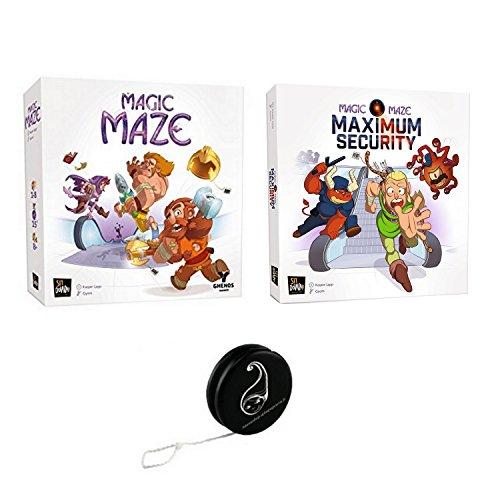 Juego de 2 juegos VF: Magic Maze + extensión Magic Maze Maximum Security + 1 Yoyo Blumie.