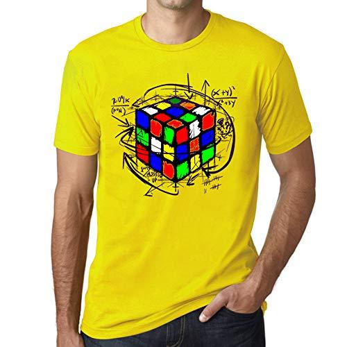 Ultrabasic - Unisex Cubo de Rubik Camiseta Rubikcube Magic T-Shirt Limón