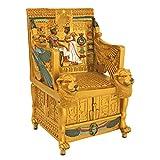 Design Toscano QL14557 Egyptian DÃcor Trinket Box - King Tut's Golden Throne Jewelry Box - Egyptian Statues,Full Color