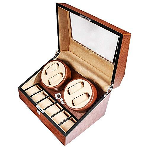 OH Mostrar Caja de Visualización Reloj Winder Relojes de Alenamiento Caja de Alenamiento con 5 Modos de Rotación para Hombres Y Mujeres Relojes Moda/As picture/Talla única
