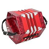Conception ergonomique professionnelle de l'instrument d'accordéon Concertina Concertina, pour l'extérieur, pour la musique(red)