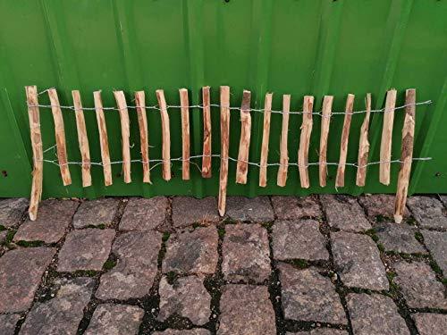 BIHL Steckzaun Beeteinfassung Haselnuss Umrandung Abgrenzung Rollboarder (Lattenabstand 3-5: 33/50 x 300 cm)