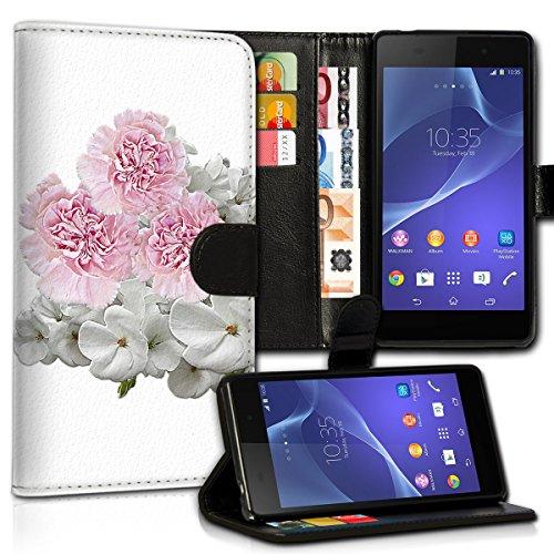 wicostar Book Style Wiko Pulp Fab Premium PU-Leder Tasche Flip Brieftasche Handy Hülle Kartenfächer mit Standfunktion für Wiko Pulp Fab - Design Flip MVC82