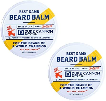 Duke Cannon Supply Co Best Beard Balm Redwood Scent 1 6oz 2 Pack product image