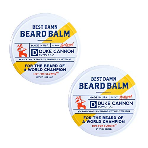 Duke Cannon Supply Co. Best Beard Balm, Redwood Scent, 1.6oz...
