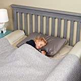 [2-Pack] hiccapop Inflatable Bed Rail for Toddlers   Travel Bed Rail, Blow-up Bed Bumper with Soft, Non-Slip Machine-Washable Cover   Portable Bed Rail for Hotel, Grandma's, Vacation