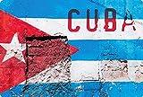 Blechschild 20x30cm gewölbt Cuba Kuba Havana Flagge Hauswand Deko Geschenk Schild
