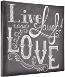 MCS MBI 13.5x12.5 Inch Live, Laugh, Love Theme Scrapbook Album with 12x12 Inch Pages (860123)