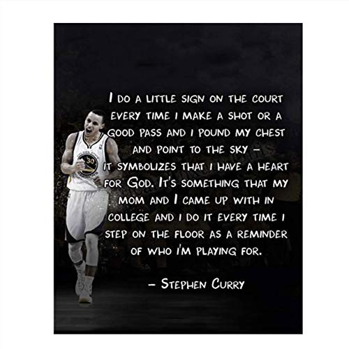 'Do a Little Sign'-Stephen Curry Christian Quotes- 8 x 10'-Motivational Basketball Poster Print-Ready to Frame. Inspirational Wall Art. Home Decor-Office Décor. Perfect for Locker Room-Gym-Bedroom.
