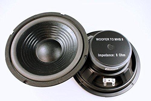 2 Stück Bass Lautsprecher 8 Zoll MHB 100 Watt 8 Ohm