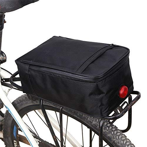 Fahrradrahmentasche wasserdichte Fahrrad Radfahren Bike-Rucksack-Sitzbeutel Faltbare Motorrad-Batterie-Beutel-Schwarz Fahrrad-Telefonhalterungstasche (Color : Black, Size : One Size)