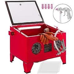 Kabina do piaskowania Maszyna do piaskowania Maszyna do piaskowania 90 litrów z akcesoriami