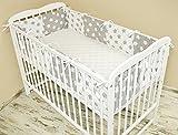 Amilian Bettumrandung Nest Kopfschutz Nestchen 420x30cm, 360x30cm, 180x30 cm Bettnestchen Baby Kantenschutz Bettausstattung MIX 6 (420x30cm)