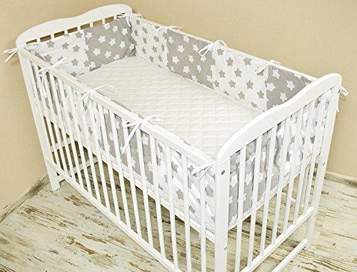 Bettumrandung Nest Kopfschutz Nestchen 420x30cm, 360x30cm, 180x30 cm Bettnestchen Baby Kantenschutz Bettausstattung MIX 6 (180x30cm)