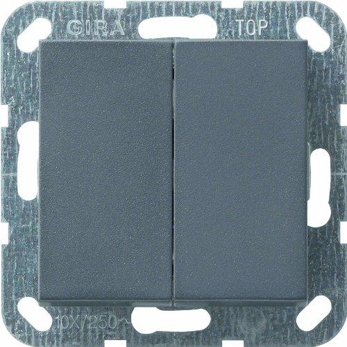 Gira Tastschalter 012528 Serienschalter System 55 ant, 250 V