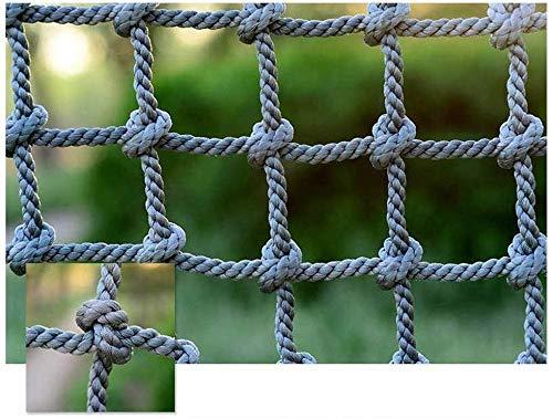 Veiligheidsnet, decoratie, henneptouw, net als ladder, veiligheidsnet, tegen val, klimnet, blokkering, net, balkon, banister, trapbescherming, hek, tuin, in elkaar grijpen, veilige neten, speelplaats (kleur: 16mm (5/8