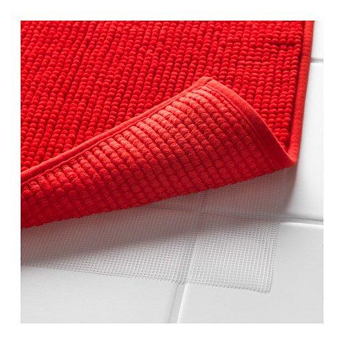 Ikea Red Supersoft Bath Shower Mat Rug Bathtub Bathroom Floor Badaren