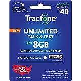 Tracfone $40 Unlimited Talk, Text, 8GB Data,...