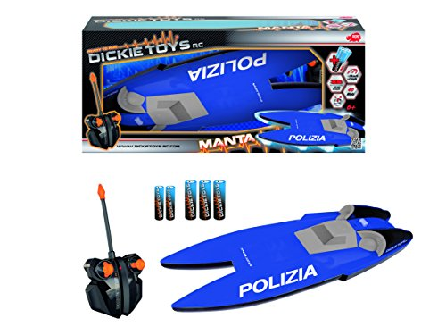 Dickie Toys 201119419010 - Motoscafo RC Manta Polizia...