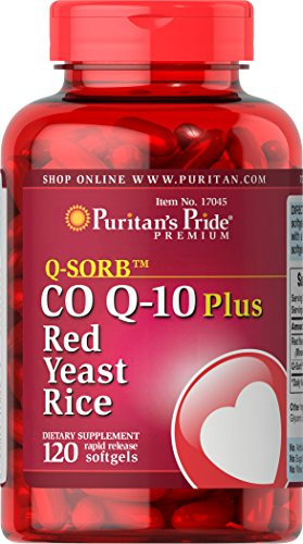 Puritan's Pride Q-Sorb CoQ10 Plus Red Yeast Rice-120 Rapid Release Softgels